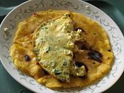 Alfred Ng - arepa with scrambeled egg