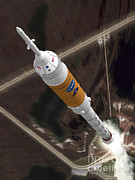 Illustration Art Photos - Ares I Launch by Nasa