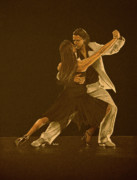 Figures Pastels - Argentine tango dancers by Martin Howard
