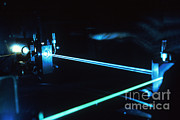 Beam Of Light Posters - Argon-ion Laser Poster by Science Source