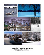 Babylon Village Framed Prints - Argyle Lake Winter Poster Framed Print by Vicki Jauron