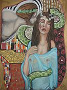 Goddess Mythology Pastels - Ariadne and Dionysus by Tammy Mae Moon