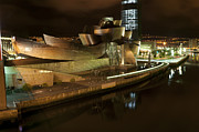 Arial View Art - Arial view of the Guggenheim Museum  Bilbao by John Gaffen