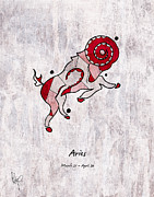 March Drawings - Aries Artwork by Roly D Orihuela