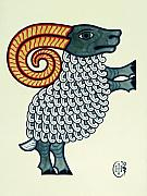 Celtic Spiral Posters - Aries Poster by Ian Herriott