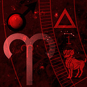 Horoscope Symbol Prints - Aries Print by JP Rhea