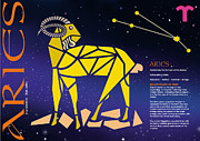 Sign Of Zodiac Digital Art - Aries Zodiac Poster by John Hebb