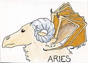 Zodiac Drawings - Aries Zodiac by Sherri Strikwerda