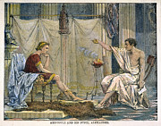 Aristotle Framed Prints - Aristotle & Alexander Framed Print by Granger