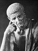 Pondering Photo Prints - Aristotle, Print by
