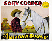 Bound Framed Prints - Arizona Bound, Gary Cooper, Flash Framed Print by Everett