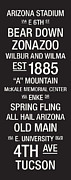 Word Art Framed Prints - Arizona College Town Wall Art Framed Print by Replay Photos