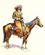 Remington Drawings - Arizona Cowboy by Reproduction