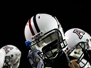 Helmet  Photo Prints - Arizona Football Helmets Print by University of Arizona