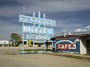 2009 Photo Framed Prints - Arizona: Motel, 2009 Framed Print by Granger