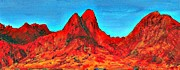 Mountains Paintings - Arizona Mountains by Randall Weidner