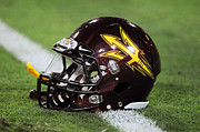 Asu Framed Prints - Arizona State Helmet Framed Print by Getty Images