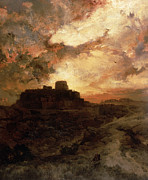 Cloudy Paintings - Arizona Sunset by Thomas Moran