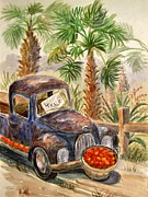 Rusty Truck Paintings - Arizona Sweets by Marilyn Smith