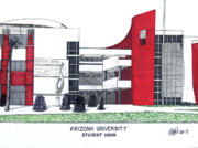 University Campus Drawings Originals - Arizona University by Frederic Kohli