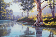Signed . Nature Paintings - Arkaroola Creek South Australia by Graham Gercken