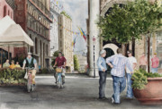 Bicycle Painting Originals - Arles Street by Sam Sidders