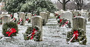 Usmc Prints - Arlington Christmas Print by JC Findley