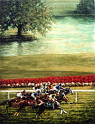 Jockey Paintings - Arlington Park by Thomas Allen Pauly
