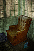 Alberta Greeting Cards Posters - Arm Chair Poster by Larysa Luciw