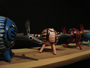 Folk Art Photos - Armadillos by Jan Prewett