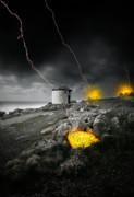 Stormy Weather Digital Art Posters - Armageddon Poster by Jaroslaw Grudzinski