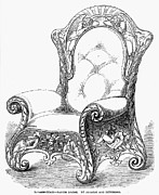 Paper Mache Framed Prints - Armchair, 1851 Framed Print by Granger