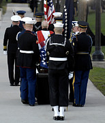 Casket Photos - Armed Forces Body Bearers Carry by Stocktrek Images
