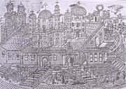 Orthodox Drawings Prints - Armenian Church Print by Yuriy Mkhitaryants