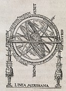 Armillary Prints - Armillary Sphere, 16th Century Artwork Print by Middle Temple Library