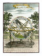 French Text Posters - Armillary Sphere, 17th Century Artwork Poster by Detlev Van Ravenswaay