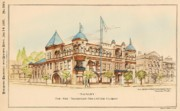 Victorian Architecture Prints - Armory for the Savannah Volunteer Guard. Savannah Georgia 1893 Print by William Gibbons Preston