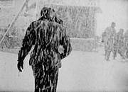 Army Base Snowstorm Print by Dale Stillman