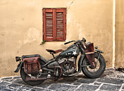 Antique Harley Davidson Framed Prints - Army Bike Framed Print by Thomas Kessler