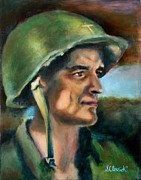 Army Paintings - Army Chaplin by Sharon Clossick