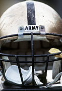 Military Photo Framed Prints - Army Football Helmet Framed Print by Getty Images