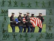 Marines Painting Originals - Army Men by Haldy Gifford
