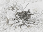 Heroes Drawings - Army Of StormTroopers by Hywel Morgan