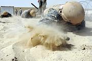 Army Soldier Pulls Himself Print by Stocktrek Images