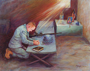 Army Paintings - Army Strong by Mary Lillian White
