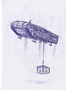 Army Drawings Originals - Army Transport Ship Vz by Viktor Zajac