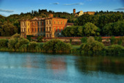 Arno River Prints - Arno River Print by Harry Spitz