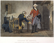 Meeting. Point Framed Prints - Arnold And Andre, 1780 Framed Print by Granger