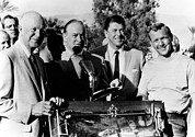 1960s Candids Framed Prints - Arnold Palmer Right, Receives The Bob Framed Print by Everett
