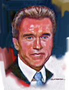 Commander In Chief Painting Posters - Arnold Schwarzenegger Poster by Dean Gleisberg